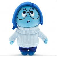 Inside Out Cartoon Disney Plush Toys Sadness With 28cm Blue Manufactures