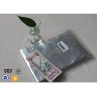 Non Itchy Fiberglass Fabric Fire Resistant Document Pouch / Fireproof Cash Envelope Manufactures