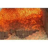High Strength Refractory Balls 40mm , 50mm , 60mm , 70mm White Kaolin Clay Manufactures