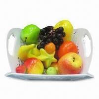 Folding Fruit Baskets, Made of PP, Measures 46.8 x 36cm Manufactures