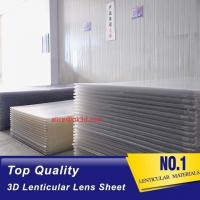 China 3D Lenticular Lens Sheet clear PS Lenticular 20 lpi Lens Sheet 3MM flip Lenticular Lens Sheet factory Manufactures
