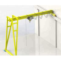 Rail Mounted Semi Gantry Crane / Cantilever Port Workshop Gantry Crane