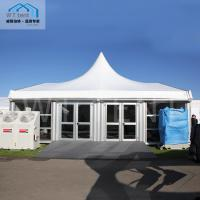 Aluminum Mixed Custom Made Tents Special White PVC Tapered Roof Cover