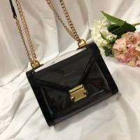 New Michael Kors handbag Whitney Black Crocodile Leather Chain Shoulder women's Bag Manufactures