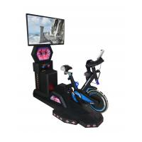 Black Color Stationary Bike With Virtual Reality Multi-Program Steel Material Manufactures