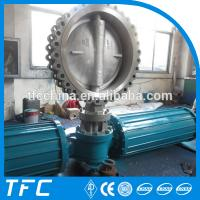 gear operated 10 inch CS butterfly valve WCB Manufactures