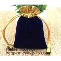 Velvet Drawstring Cloth Jewelry / Gift / Headphones Bag / Pouches Candy Gift Bags Christmas Party Jewelry, Gifts, Event Manufactures