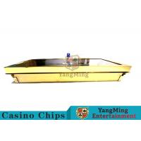 Bright Golden Texture Metal Casino Chip Tray , Poker Table Chip Tray Inserts  Manufactures