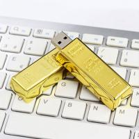 China Golden Plated Metal USB Flash Drive Fashion Gift Custom Design Welcome on sale