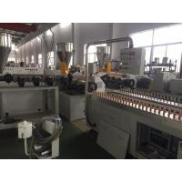 China ISO Standard Plastic Profile Extrusion Machine , PVC Profile Extrusion Line on sale