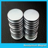 China Strong Disc NdFeB Rare Earth Neodymium Magnets 10mm X 1mm Custom Shaped on sale