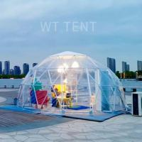 Luxury Metal Geodesic Dome Tent Warm Lights Exterior Reading Use Manufactures