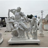 Museum exhibition marble sculptures Laocoon replica stone statue,stone carving supplier Manufactures