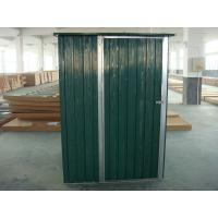 Green color metal shed with single swing door,8x3.7ft,0.3mm color board Manufactures