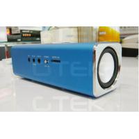 Metal Iphone FM radio speaker , USB Rechargeable Stereo Speakers Manufactures
