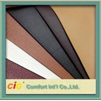 China Red Brown Orange Polyurethane Synthetic Leather Fabric 100gsm-1000gsm on sale