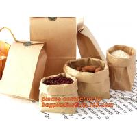 70g food grade brown kraft paper bag with customized logo printing, Pinch Bottom Paper Bag, Greaseproof Paper Bag with L Manufactures
