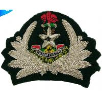 China Hand embroidery custom cap badges | Embroidery cap badges | Bullion wire air force blazer badges on sale