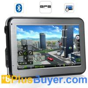 """Land Cruiser - 4.3"""" Touchscreen GPS Navigator (Bluetooth, FM transmitter) Manufactures"""