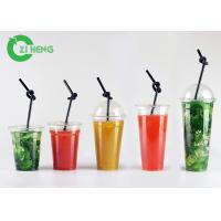 Large Hard Disposable Plastic Cups With Lids Highly Transparent Custom Logo Manufactures