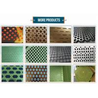 10mm Round Hole Mesh Powder Coated , Perforated Mesh Sheet Corrosion Resistance Manufactures