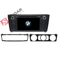 China 1 Series E81 / E82 / E87 BMW DVD GPS Navigation Android 6 Car Stereo Support 4G on sale