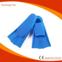 Super Soft Diving Swim Fins , Full Footed Design Short Fin Flippers Manufactures