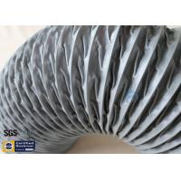 HVAC Flexible Air Duct PVC Coated Fiberglass Fabric Grey 200MM Hose Waterproof Manufactures