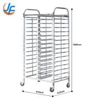 15X2 Trays Commercial Stainless Steel Trolley Rack / Commercial Baking Tray Rack Manufactures