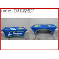Promotional Outside Tension Fabric Displays , Washable Trade Show Table Covers Manufactures