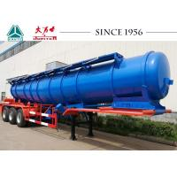 18000 Liters Stainless Steel Acid Tanker Trailer Long Using Life With BPW Axles Manufactures
