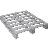 "Heavy Duty Metal Pallets Warehouse Equipments Standard Size 40"" X 48"" Grey Color Manufactures"