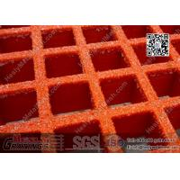 China 38mm depth RED color Fiberglass Molded  Grating (ABS certificated) | China FRP Grating Supplier on sale