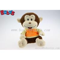 Plush Stuffed Baby Monkey Toy With Embroidery Smile Face and T-Shirt Manufactures