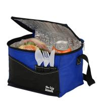 Blue Waterproof Insulated Cooler Bags , Thermal Lunch Bag Polyester 40*30*30cm Manufactures