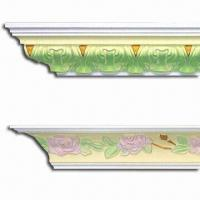 Fireproof PU Carving Cornice Mouldings, Impervious to Insects/Termite