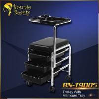 BN-T9005 Bonnie Beauty manicure trolley stainless steel trolley for hairdresser hairdressing trolley Manufactures