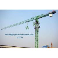 PT6518 65M Jib Boom 10tons Load Top Less Head Tower Cranes Potain Mast Manufactures