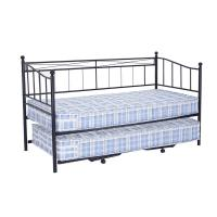 China Wrought Iron Metal Daybed Frame 14.5kg With Pull Out Bed French Style on sale