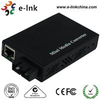 E- Link Single Mode SC Fiber Ethernet Media Converter 10 / 100 / 1000Mbps Manufactures