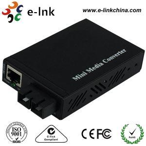 E- Link Single Mode SC Fiber Ethernet Media Converter 10 / 100 / 1000Mbps Manufactures