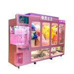 Huge Coin Operated Cut Ur Prize Vending Machine / Arcade Scissor Cut Toy Machines Manufactures