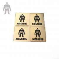 China Tinplate Custom Stainless Steel Coasters , Recycled  Round Promotional Drink Coasters on sale