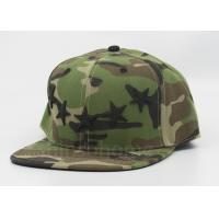 Quality Camo 100% Acrylic Printed Army Baseball Caps / Snapback Hats For Man for sale