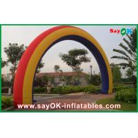 Promotional Rainbow Inflatable Arch Christmas Inflatable Archway W7m * H4m Manufactures
