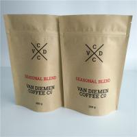 China Customized Paper Bag Packaging Vegetable Seeds Ziplock Valve Smell Proof For Coffee / Tea on sale