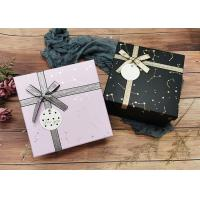 Constellation Printing Gift And Shopping Cardboard Storage Boxes With Shiny Belt Manufactures