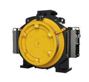 Passenger Elevator Motor Machine , 1.0 - 1.75m/S Gearless Traction Machine Manufactures