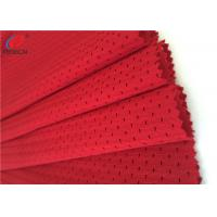Red Color 100 % Polyester Mesh Fabric For Sports / Office Chair ,Eco - Friendly Manufactures