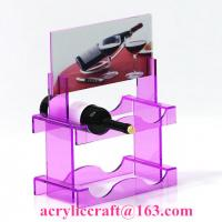 New style custom colorful PMMA wine rack China acrylic wine holder for retail Manufactures